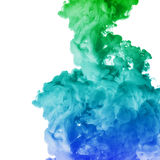 Acrylic colors ink in water. cloud explosion Royalty Free Stock Photos