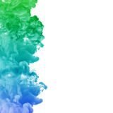Acrylic colors ink in water. cloud explosion Royalty Free Stock Photo