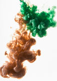 Acrylic colors. Inks in water. Abstract background Royalty Free Stock Image