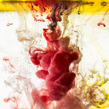 Acrylic colors. Inks in water. Abstract background Stock Photo