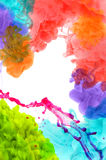 Acrylic colors in water Royalty Free Stock Photography