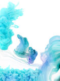 Acrylic colors in water. Royalty Free Stock Image