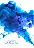 Acrylic colors in water. Abstract background stock images