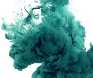 Acrylic colors in water. Abstract background royalty free stock photo