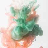 Acrylic colors in water Royalty Free Stock Photos