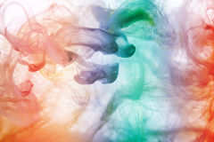 Acrylic colors in water. Abstract background Stock Photos