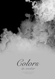 Acrylic colors in water. Abstract background. Acrylic black and white colors and ink in water. Abstract background Royalty Free Stock Photo