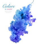 Acrylic colors in water. Abstract background. Acrylic colors and ink in water. Abstract background stock image