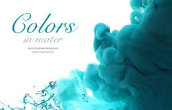 Acrylic colors in water. Abstract background. Acrylic colors and ink in water. Abstract background Royalty Free Stock Photo