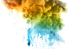 Acrylic colors in water. Abstract background. Royalty Free Stock Photos