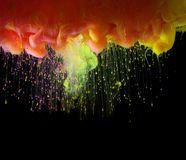 Acrylic colors in water. Abstract background stock photo