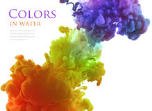 Acrylic colors in water. Abstract background. Royalty Free Stock Images