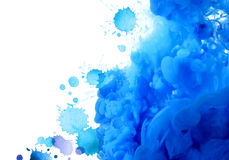 Acrylic colors in water. Abstract background. Stock Photography
