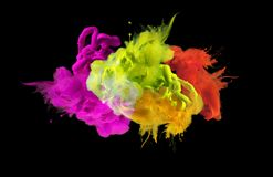 Acrylic colors in water.  Abstract background. Stock Image