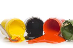 Acrylic colour Stock Images