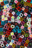 Acrylic cube letter Royalty Free Stock Image