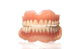ACRYLIC DENTURE- FULL FRONT SET Stock Photos