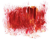 Acrylic hand drawn red abstract splash stains Royalty Free Stock Images