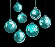 Acrylic hand painted christmas ornament Stock Photo