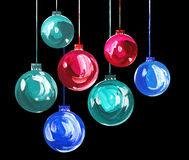 Acrylic hand painted christmas ornament Stock Image