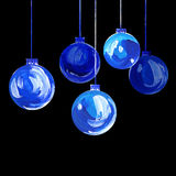 Acrylic hand painted christmas ornament Royalty Free Stock Photography