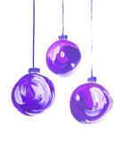 Acrylic hand painted christmas ornament Stock Images