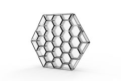 Acrylic Honeycomb Shelf Royalty Free Stock Photography