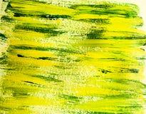 Acrylic horizontal background  yellow and green Stock Image