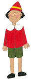 Acrylic illustration of Pinocchio. Acrylic illustration of puppet Pinocchio Stock Photo