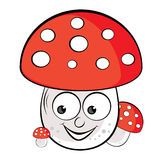 Acrylic illustration of Toadstool Royalty Free Stock Photo