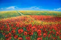 Acrylic landscape Stock Images