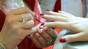 Acrylic nails manicure, beauty salon, fashion, stock video footage