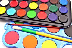 Acrylic paint Royalty Free Stock Image