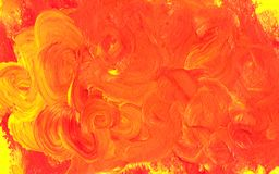 Acrylic paint abstract background. Red, orange and yellow. Acrylic paint abstract background - red, orange and yellow Stock Photo