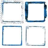 Acrylic paint frames Stock Photo