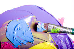 Acrylic Paint Isolated Stock Images