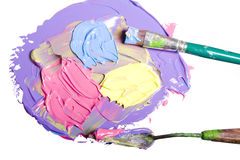 Acrylic paint isolated Royalty Free Stock Photography