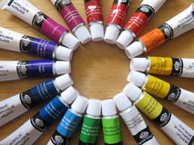 Acrylic Paint Stock Image