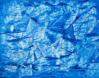 Acrylic painted abstract  blue background  on cardboard Stock Photo