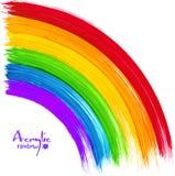 Acrylic painted rainbow, vector image. Acrylic bright colors painted rainbow, vector image Royalty Free Stock Image