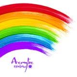 Acrylic painted rainbow, vector image. Acrylic bright colors painted rainbow, vector image Royalty Free Stock Photos