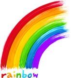 Acrylic painted rainbow, vector image. Acrylic bright colors painted rainbow, vector image Stock Photo