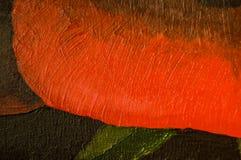 Acrylic painting, background. Acrylic painting, red-black background Stock Photos