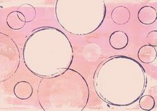 Acrylic painting with circles in soft pink pastel colors. Handmade acrylic painting with circles in pink, artwork is created and painted by myself and makes a vector illustration