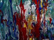 My world. Acrylic painting for digital printing on canvas royalty free stock photo