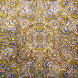 Acrylic painting The gold mandala Stock Images