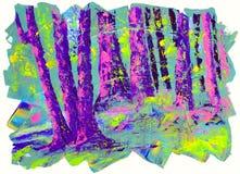 Acrylic Painting Landscape Royalty Free Stock Photos
