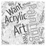 Acrylic painting word cloud concept. Back ground Vector Illustration