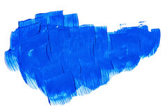 Acrylic paints background in blue tones. Abstract shapes and textures Royalty Free Stock Photography