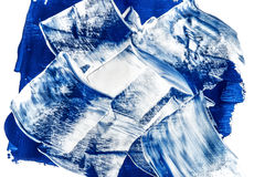 Acrylic paints background in blue tones Royalty Free Stock Photos